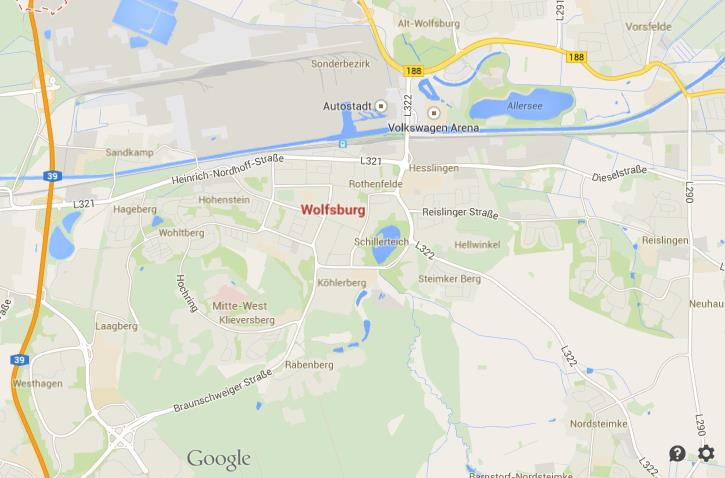 Map of Wolfsburg World Easy Guides