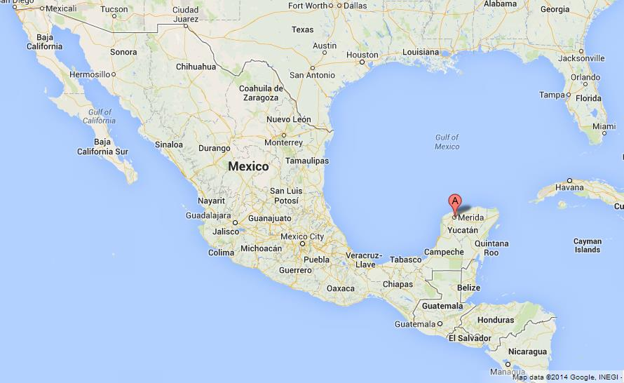 Merida On Map Of Mexico
