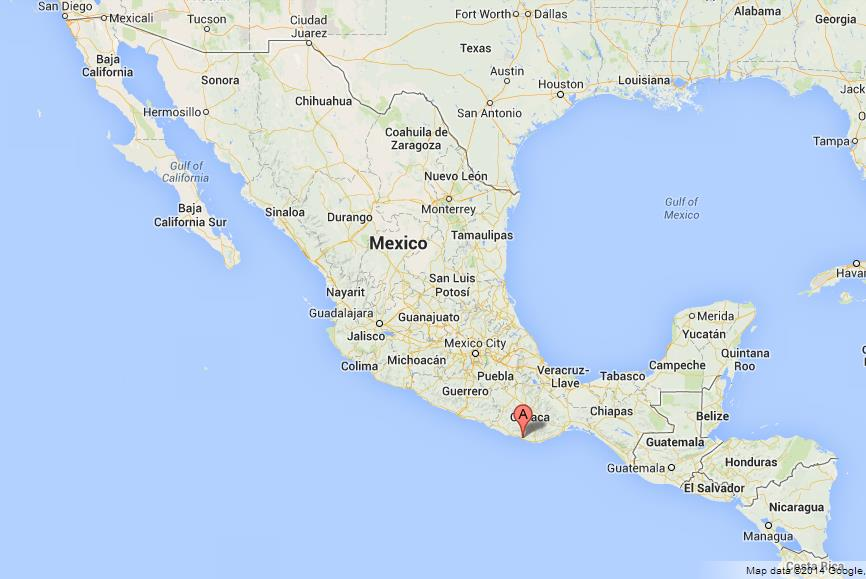 Puerto Escondido on Map of Mexico World Easy Guides