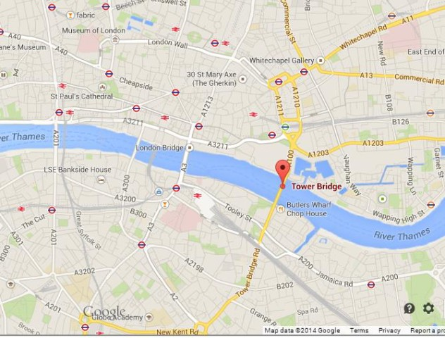 Map London Bridge.Tower Of Bridge In London World Easy Guides