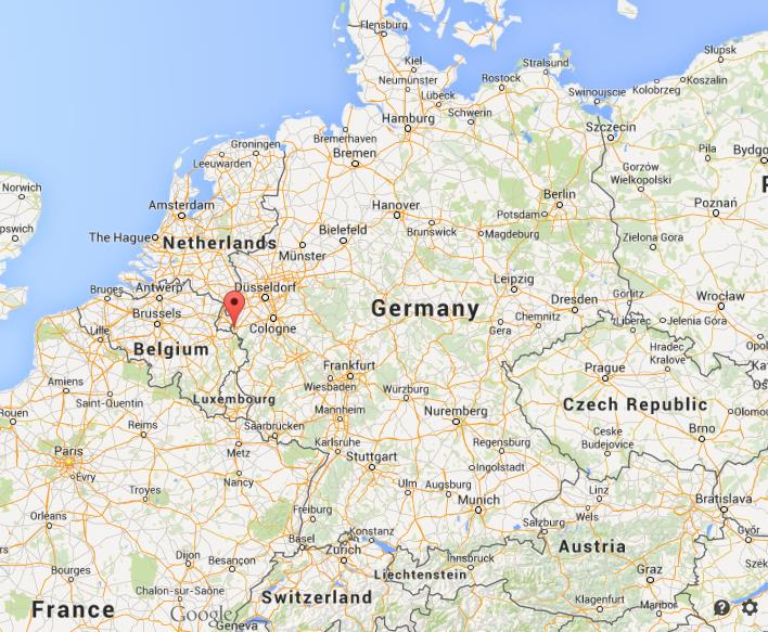 where is aachen on map germany