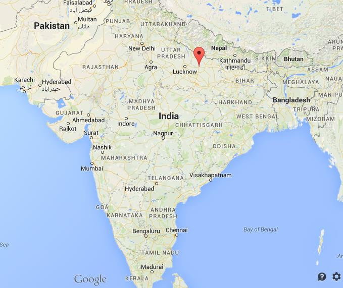 Where is Ayodhya on map India