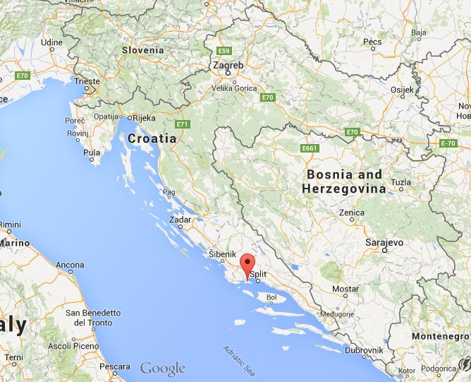 Where is ciovo on map croatia world easy guides location ciovo on map croatia gumiabroncs Images
