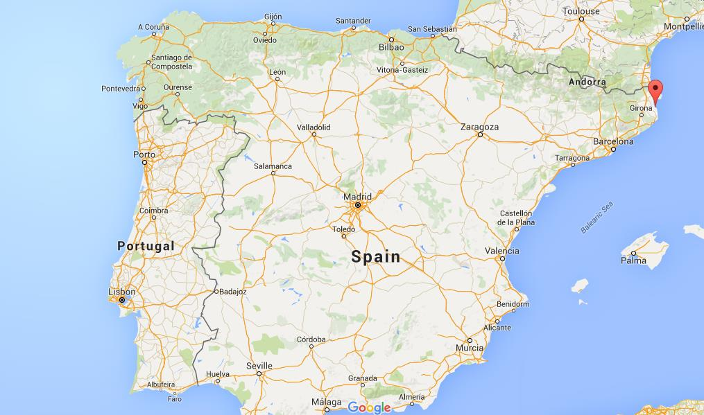 Map Of Spain Showing Costas.Where Is Costa Brava On Map Spain