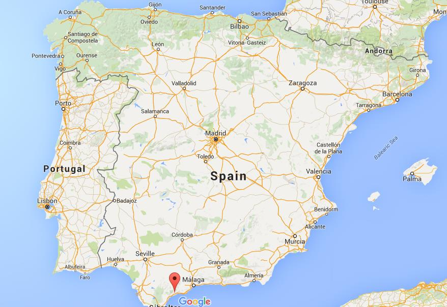 Where is Costa del Sol on map Spain World Easy Guides
