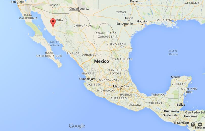 where is hermosillo on map of mexico