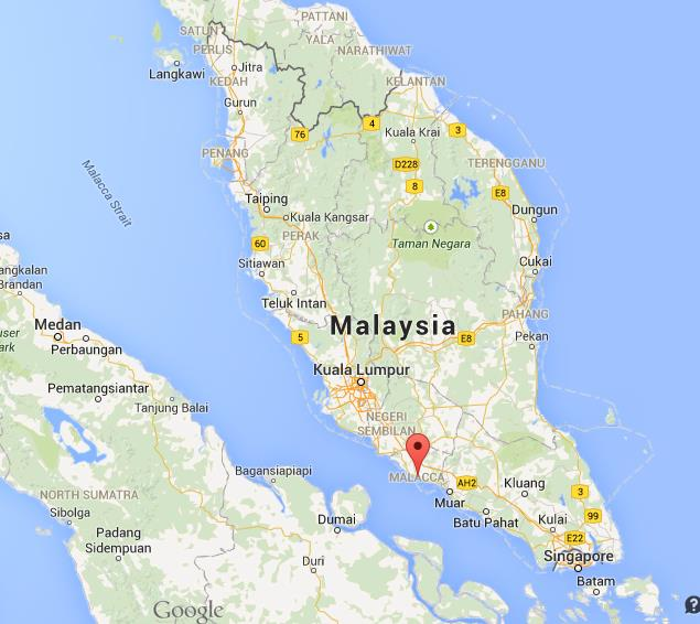 Where is Malacca on map Malaysia World Easy Guides