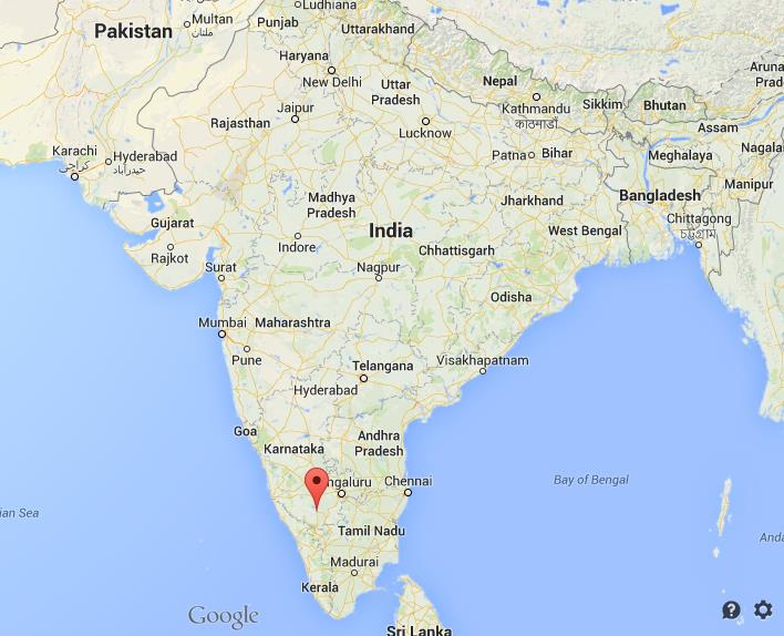 Where is Mysore on map India  World Easy Guides