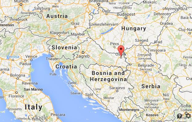 Where is Osijek on map of Croatia World Easy Guides