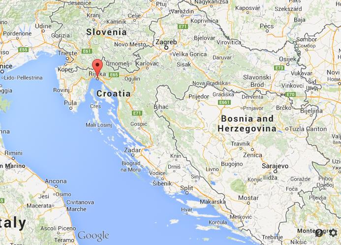 Where is Rijeka on map of Croatia World Easy Guides