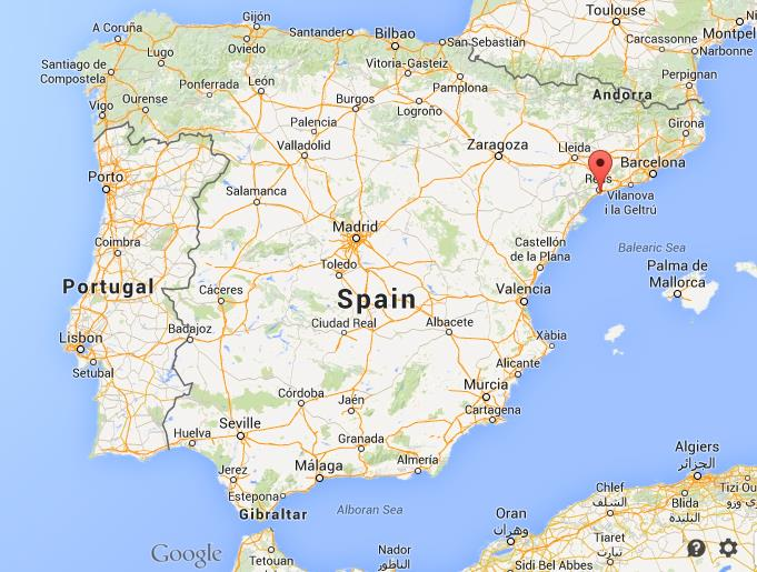 Map Of Spain Showing Salou.Salou Spain Map Lzk Gallery Citiestips Com