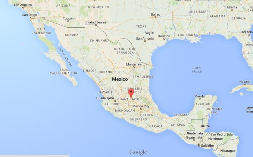 Where is San Miguel de Allende on map of Mexico