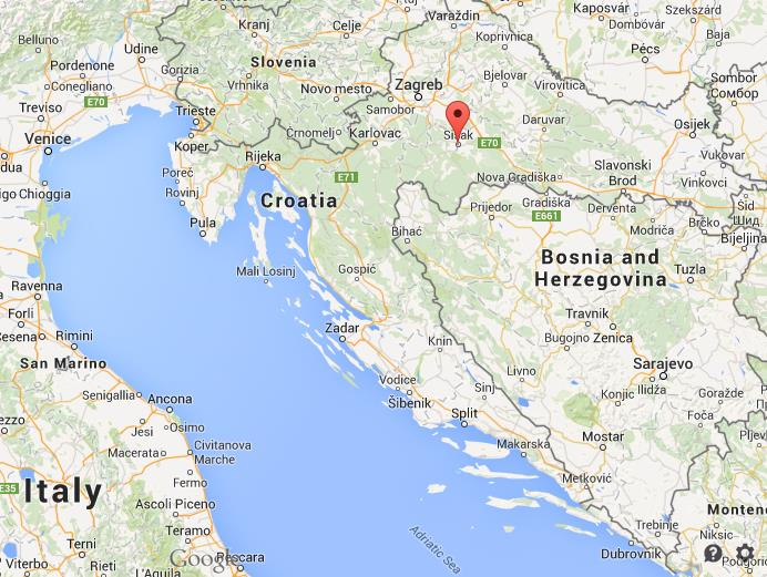 Where is Sisak on map of Croatia World Easy Guides
