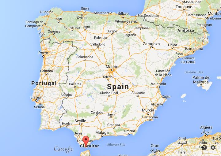 Printable Map Of Spain.Where Is Tarifa Map Spain
