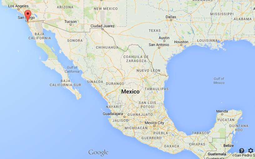 Where Is Tijuana On Map Mexico