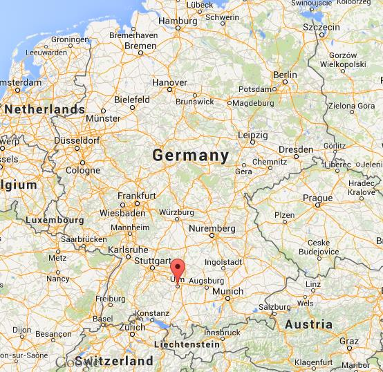 where is ulm on map germany