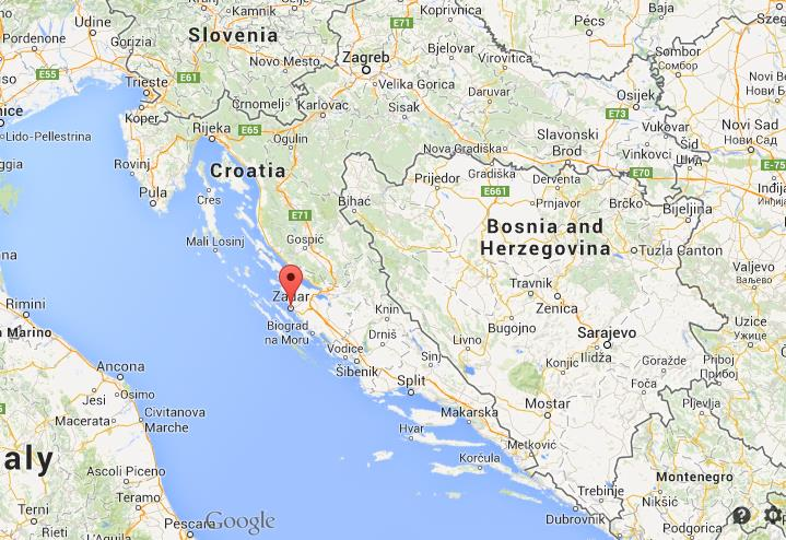 Where is zadar on map of croatia world easy guides location of zadar on map of croatia gumiabroncs Images