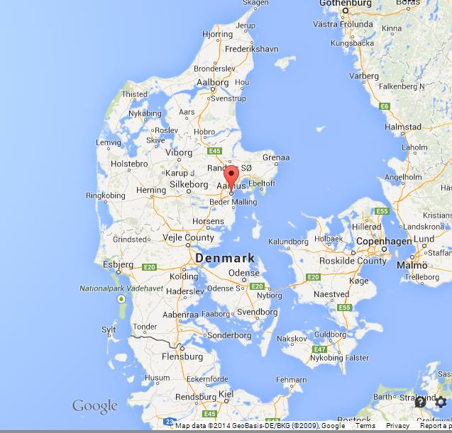 Aarhus on map of denmark location aarhus on map of denmark gumiabroncs Gallery