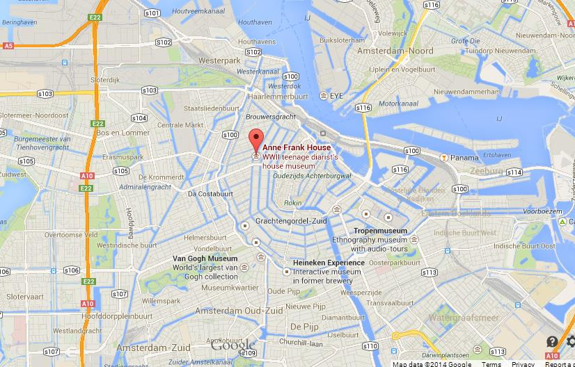Anne Frank House On Map Of Amsterdam World Easy Guides - Where is amsterdam