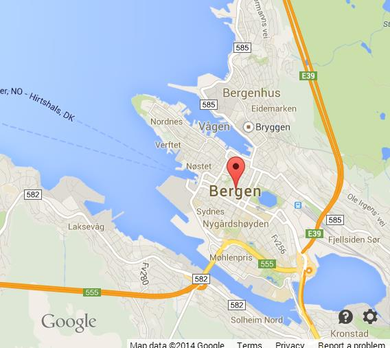 Map Of Bergen World Easy Guides - Bergen map