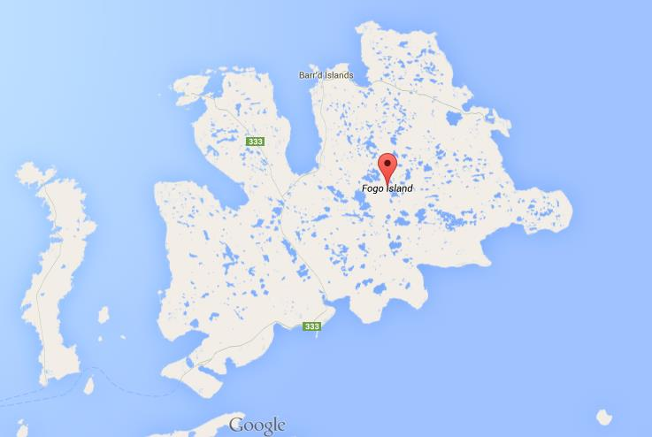 Map Of Fogo Island World Easy Guides