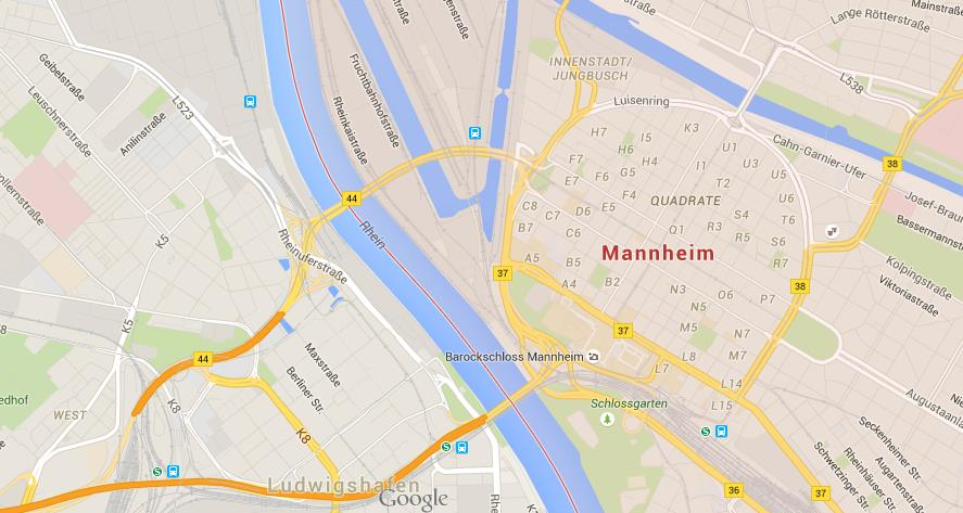 Map Of Germany Mannheim.Map Of Mannheim