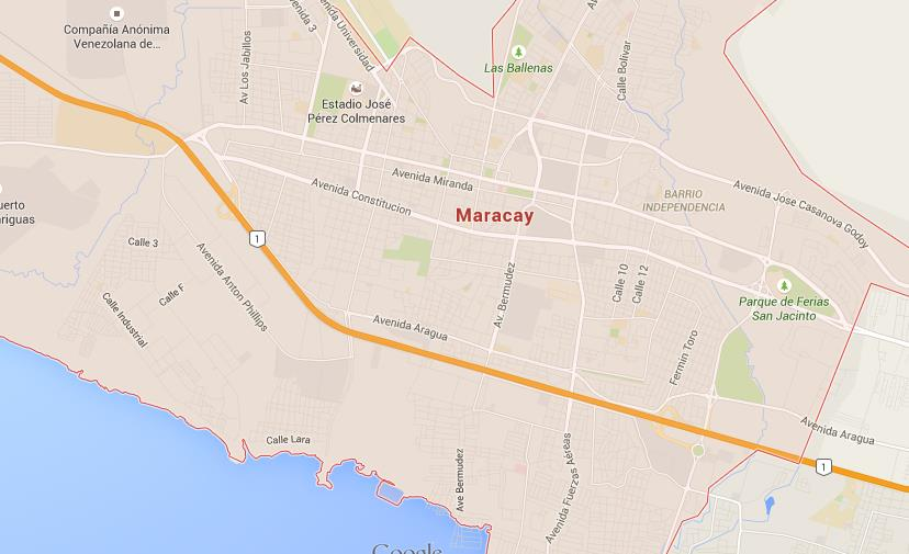 Map of Maracay World Easy Guides