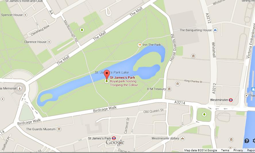 Map of St James Park World Easy Guides