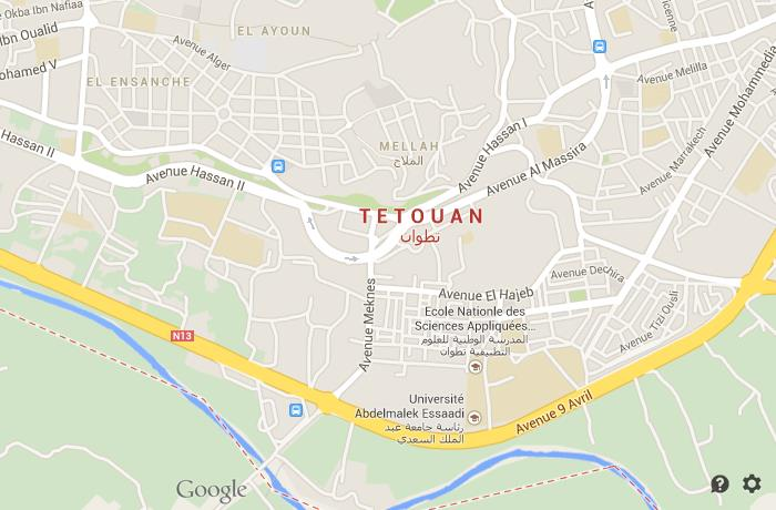 Map of Tetouan World Easy Guides