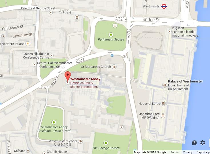 Map Of Westminster Abbey Area World Easy Guides