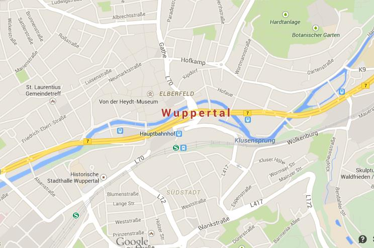Map of Wuppertal World Easy Guides