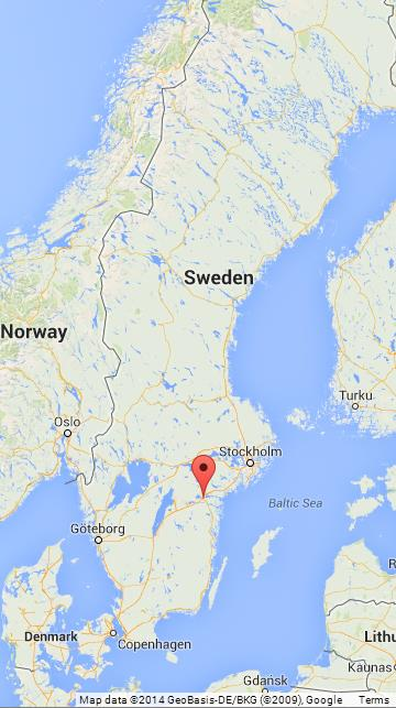 Norrkoping on Map of Sweden World Easy Guides