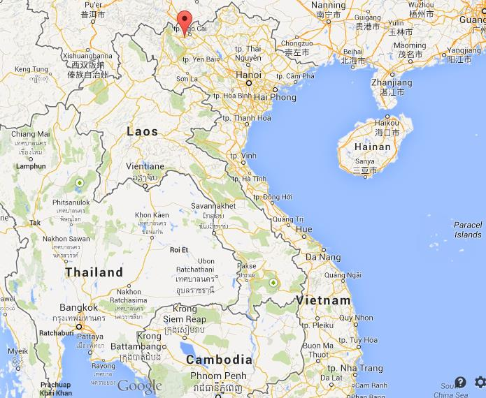 Sapa on map of Vietnam World Easy Guides