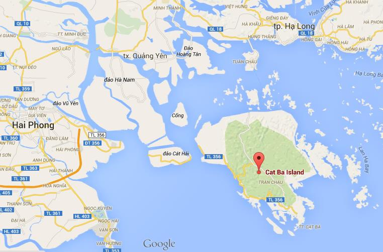 Where is cat ba island on map of halong bay gumiabroncs Image collections