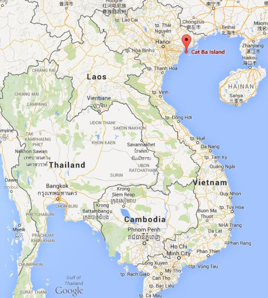 Where is cat ba island on map of vietnam gumiabroncs Image collections