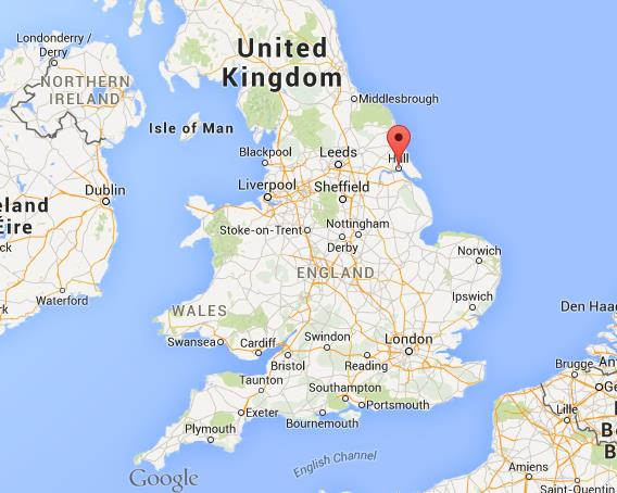 Map Of Uk Hull.Where Is Hull On Map Of England