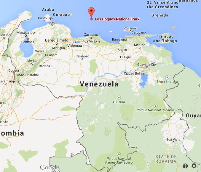 Where is Los Roques National Park map Venezuela World Easy Guides