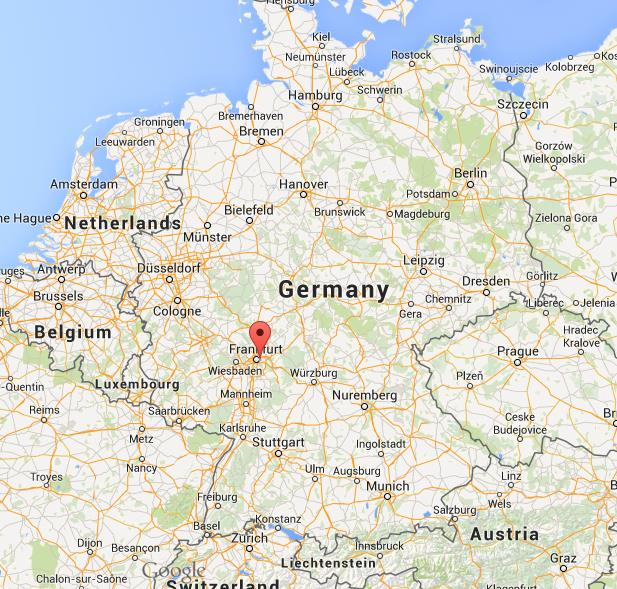 where is offenbach on map germany