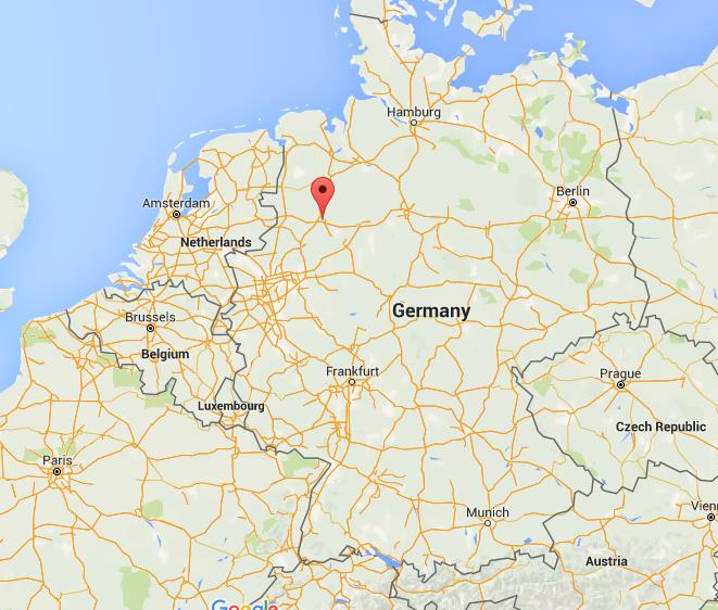 where is osnabruck on map germany