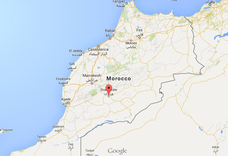 Where is ouarzazate on map morocco world easy guides location ouarzazate on map morocco sciox Gallery