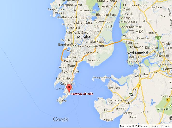 Gateway of india on map of mumbai world easy guides where is gateway of india on map of mumbai gumiabroncs Image collections