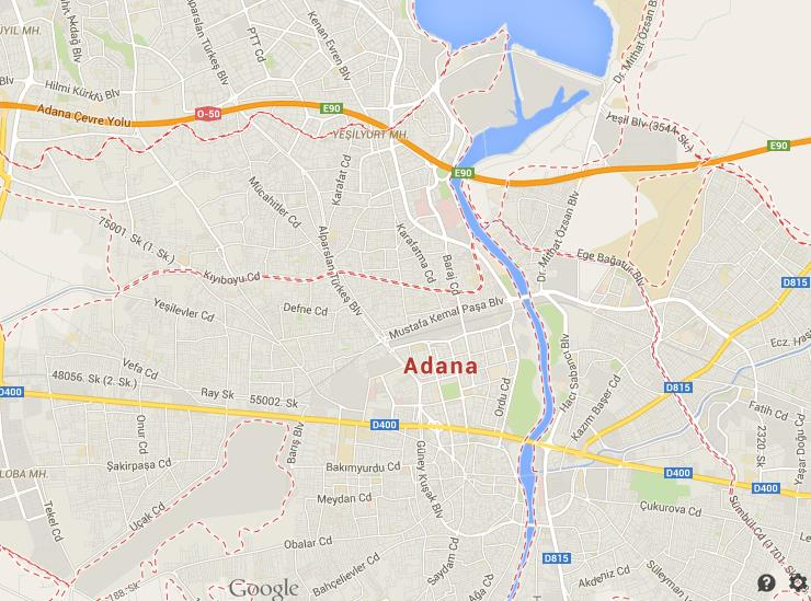 Map of Adana World Easy Guides