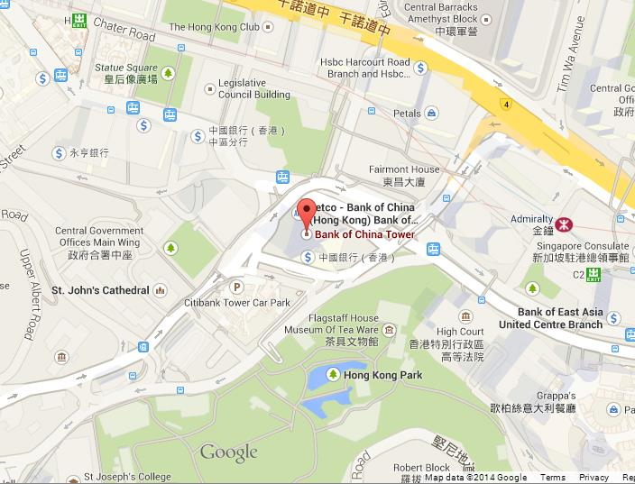 Map of bank of china tower area world easy guides map of bank of china tower hong kong gumiabroncs Gallery