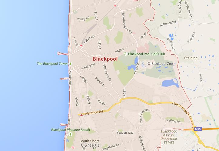 Map of Blackpool World Easy Guides