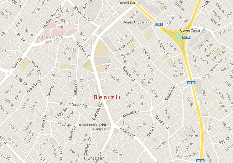 Map Of Denizli World Easy Guides