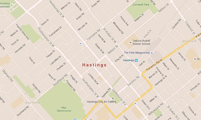 Fukatani New Zealand Map.Map Of Hastings New Zealand Twitterleesclub