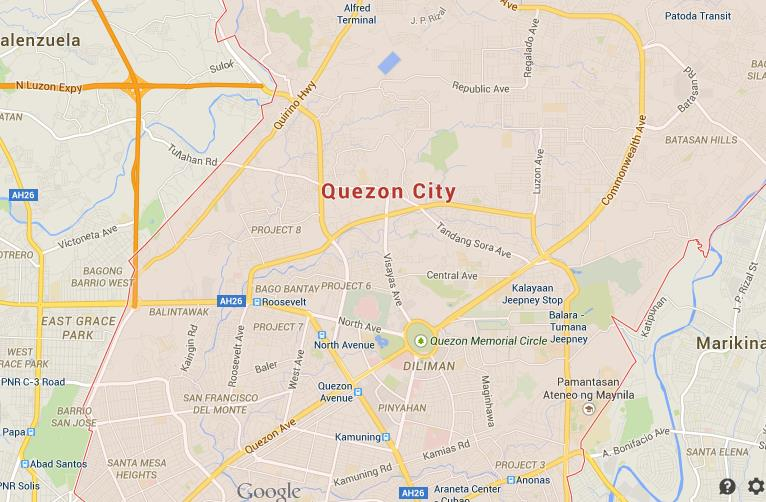 Map of Quezon City  World Easy Guides