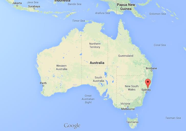 Newcastle on map of Australia  World Easy Guides