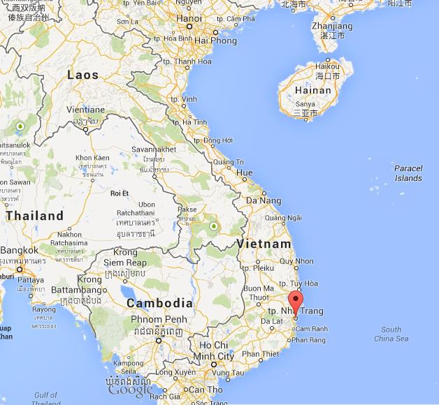 Nha Trang on map of Vietnam World Easy Guides