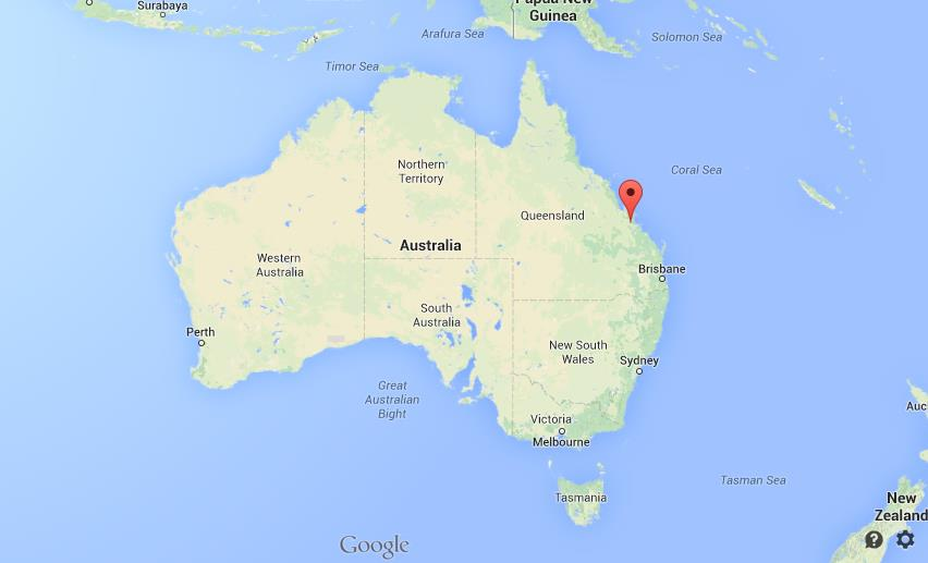 Rockhampton on map of Australia World Easy Guides